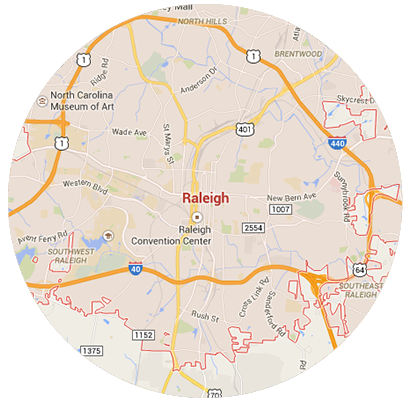 Raleigh Garage Door Service Areas