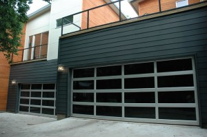 contemporary style glass garage door raleigh nc